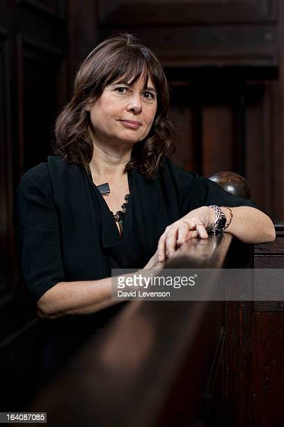 Alexandra Shulman writer and editor of British Vogue attends the Sunday Times Oxford Literary Festival at the Bodleian Library on March 19 2013 in...