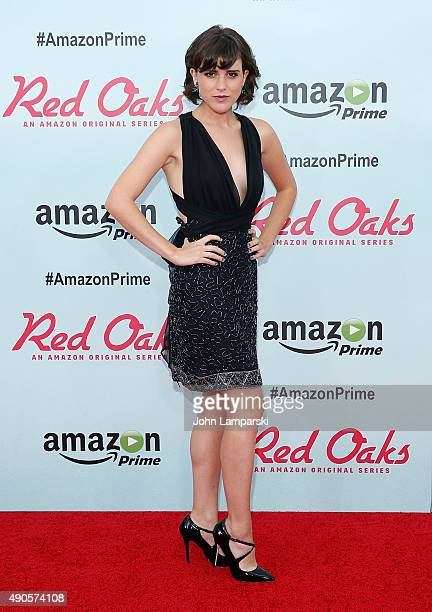 Alexandra Socha attends 'Red Oaks' series premiere at Ziegfeld Theater on September 29 2015 in New York City