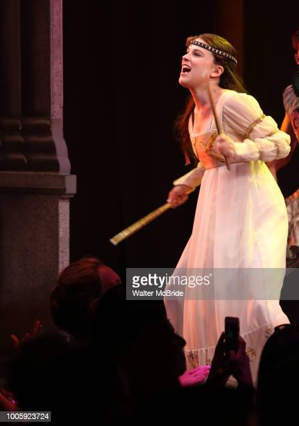 Alexandra Socha during the Opening Night Performance Curtain Call of 'Head Over Heels' at the Hudson Theatre on July 26 2018 in New York City