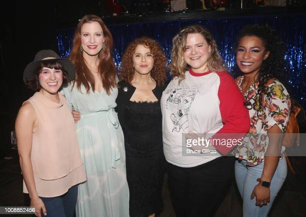 Alexandra Socha Rachel York Bernadette Peters Bonnie Millligan and Taylor Iman Jones pose backstage at the hit musical 'Head Over Heels' on Broadway...