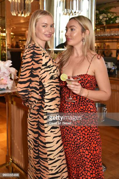 Alexandra Spencer and Teale Talbot attend the launch of the Realisation concession at Selfridges on July 2 2018 in London England