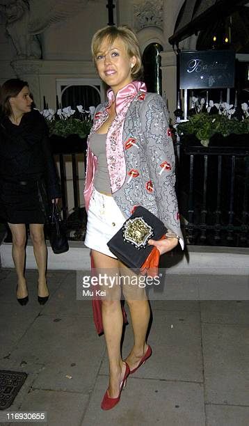 Alexandra Spencer Churchill during Tatlers Little Black Book Launch Party Arrivals November 9 2005 at Baglioni Hotel in London Great Britain