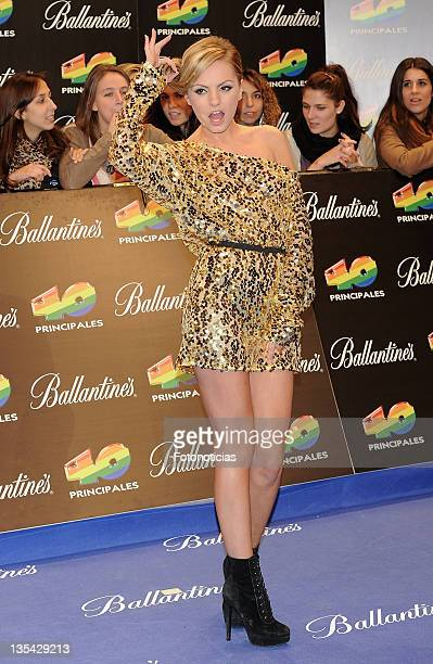 Alexandra Stan arrives to the '40 Principales Awards' 2011 at the Palacio de Deportes on December 9 2011 in Madrid Spain