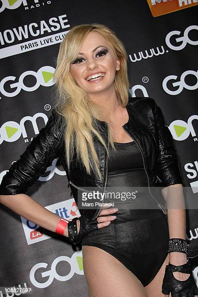 Alexandra Stan attends the 'Goom celebration 2' at Le Showcase on February 4 2011 in Paris France