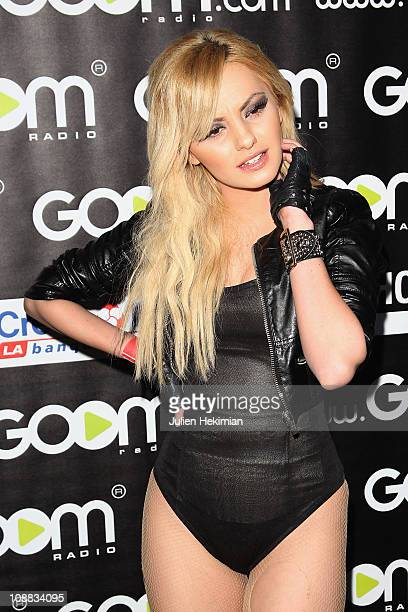 Alexandra Stan attends the Goom Radio Celebration party at Le Showcase on February 4 2011 in Paris France