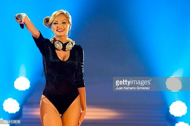 Alexandra Stan performs during 40 Principales Awards 2011 at Palacio de los Deportes on December 9 2011 in Madrid Spain