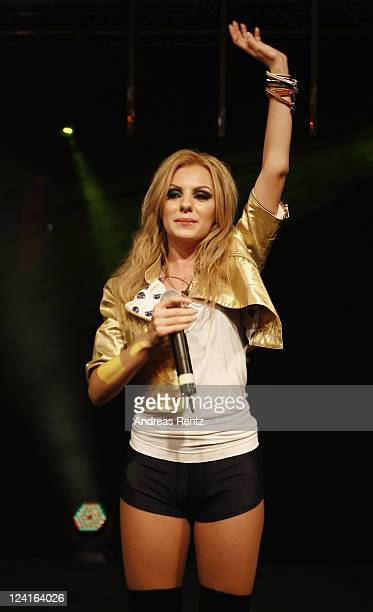 Alexandra Stan performs on stage at the Music meets Media party at Grand Hotel Esplanade on September 8 2011 in Berlin Germany