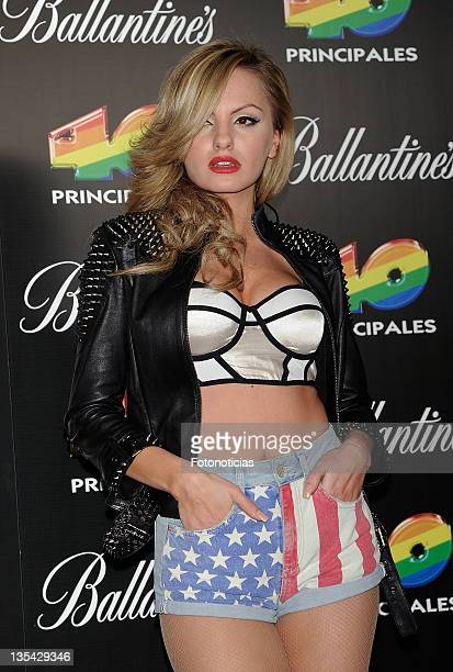 Alexandra Stan poses at the press room during '40 Principales Awards' 2011 at the Palacio de Deportes on December 9 2011 in Madrid Spain
