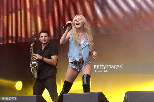 Alexandra Stan Singer Romania on stage at the show RTLStarsforfree
