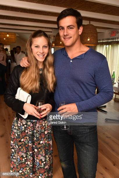 Alexandra Stein and Justin Roth attend AVENUE on the Beach Kicks off Summer 2017 at Calissa on May 27 2017 in Water Mill New York