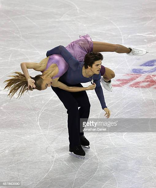 Alexandra Stepanova and Ivan Bukin compete in the Ice Dance Free Dance during the 2014 Hilton HHonors Skate America competition at the Sears Centre...