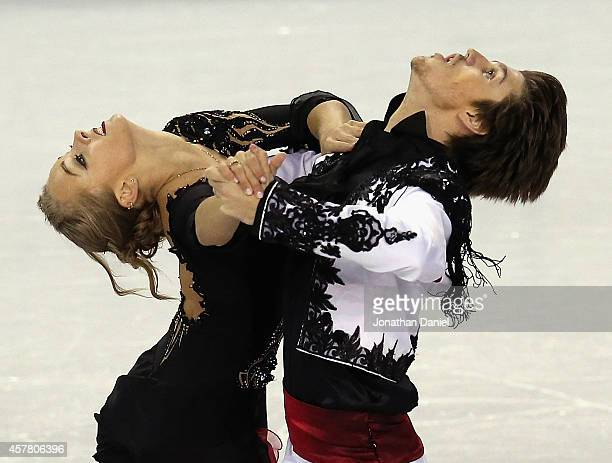 Alexandra Stepanova and Ivan Bukin compete in the Ice Dance Short Dance during the 2014 Hilton HHonors Skate America competition at the Sears Centre...