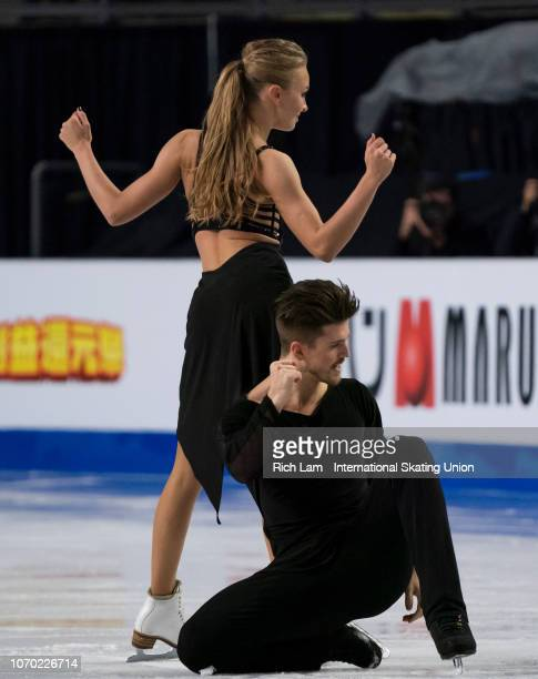 Alexandra Stepanova and Ivan Bukin of Russia compete in the Free Dance portion of the Ice Dance Competition on December 2018 at the ISU Junior Senior...