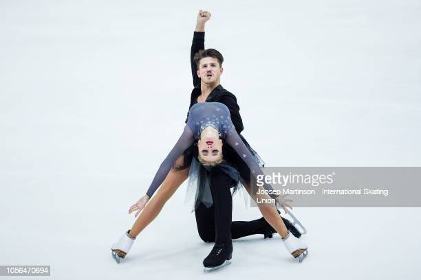 Alexandra Stepanova and Ivan Bukin of Russia compete in the Ice Dance Rhythm Dance during day one of the ISU Grand Prix of Figure Skating at the...