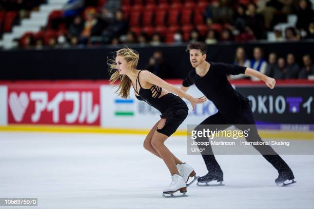 Alexandra Stepanova and Ivan Bukin of Russia compete in the Ice Dance Free Dance during day two of the ISU Grand Prix of Figure Skating at the...