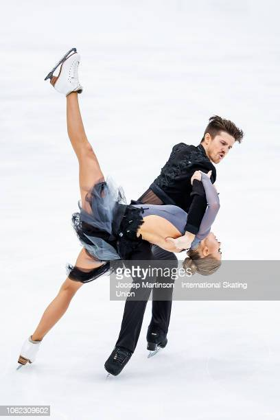 Alexandra Stepanova and Ivan Bukin of Russia compete in the Ice Dance Rhythm Dance during day 1 of the ISU Grand Prix of Figure Skating Rostelecom...