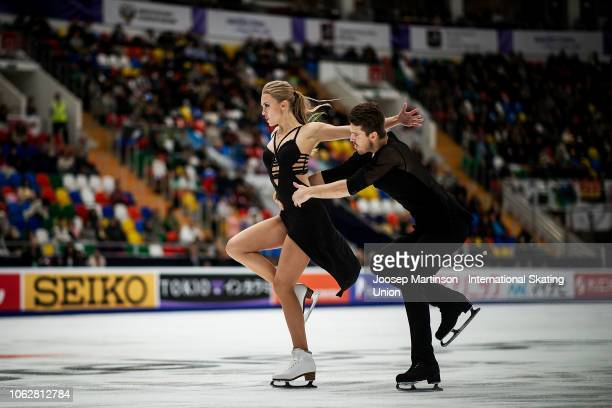 Alexandra Stepanova and Ivan Bukin of Russia compete in the Ice Dance Free Dance during day 2 of the ISU Grand Prix of Figure Skating Rostelecom Cup...