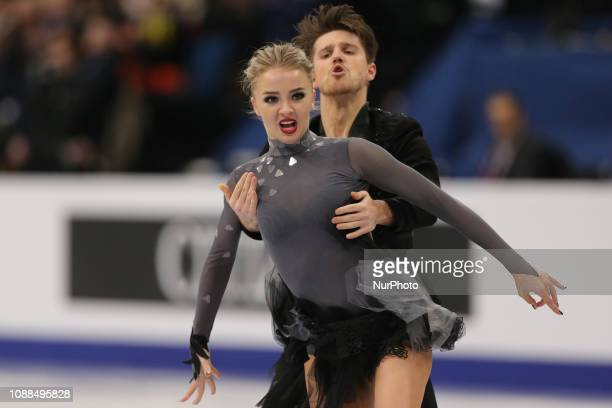 Alexandra Stepanova and Ivan Bukin of Russia compete in the Ice Dance Rhythm Dance during day three of the ISU European Figure Skating Championships...