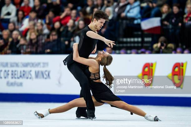 Alexandra Stepanova and Ivan Bukin of Russia compete in the Ice Dance Free Dance during day four of the ISU European Figure Skating Championships at...