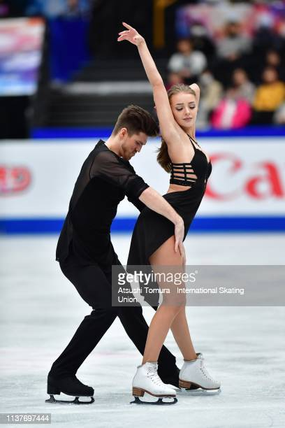 Alexandra Stepanova and Ivan Bukin of Russia compete in the Ice Dance Free Dance on day four of the 2019 ISU World Figure Skating Championships at...