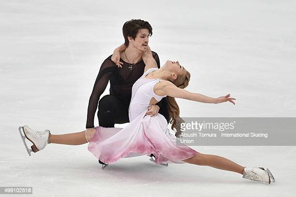 Alexandra Stepanova and Ivan Bukin of Russia compete in the Ice dance free dance during the day three of the NHK Trophy ISU Grand Prix of Figure...