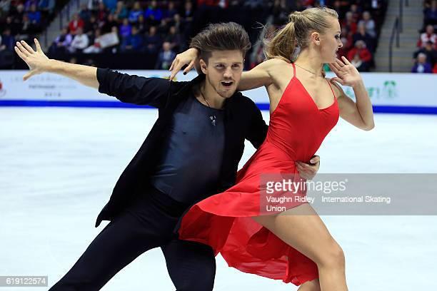 Alexandra Stepanova and Ivan Bukin of Russia compete in the Ice Dance Free Program during the ISU Grand Prix of Figure Skating Skate Canada...