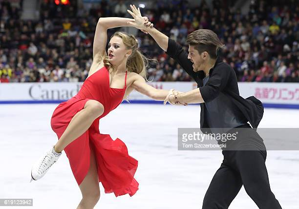 Alexandra Stepanova and Ivan Bukin of Russia compete in the Ice Dance Free Dance Program Free Program during day two of the 2016 Skate Canada...