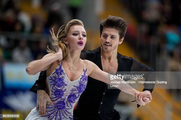 Alexandra Stepanova and Ivan Bukin of Russia compete in the Ice Dance Short Dance during day one of the ISU Grand Prix of Figure Skating Rostelecom...