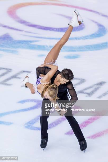 Alexandra Stepanova and Ivan Bukin of Russia compete in the Ice Dance Short Dance during day one of the ISU Grand Prix of Figure Skating at Polesud...