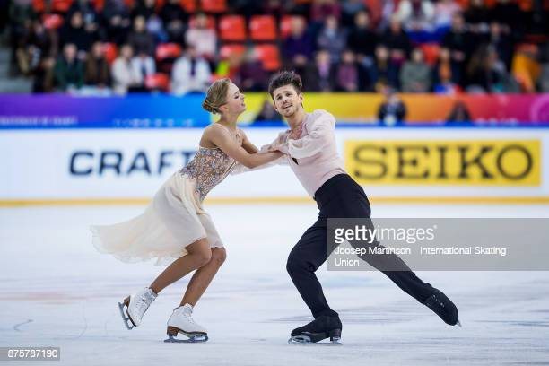 Alexandra Stepanova and Ivan Bukin of Russia compete in the Ice Dance Free Dance during day two of the ISU Grand Prix of Figure Skating at Polesud...