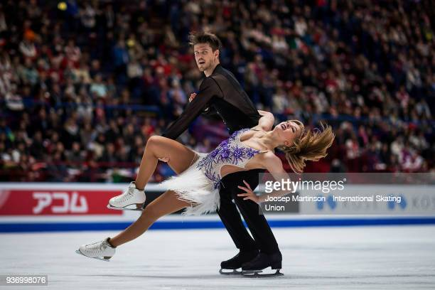 Alexandra Stepanova and Ivan Bukin of Russia compete in the Pairs Free Skating during day two of the World Figure Skating Championships at Mediolanum...