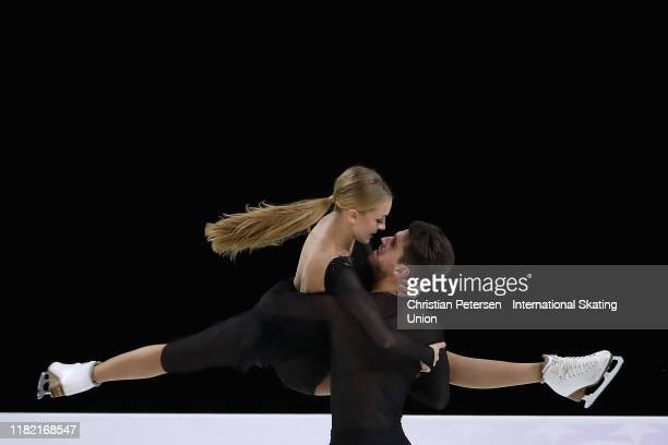 Alexandra Stepanova and Ivan Bukin of Russia perform during ice dance free dance in the ISU Grand Prix of Figure Skating Skate America at the Orleans...