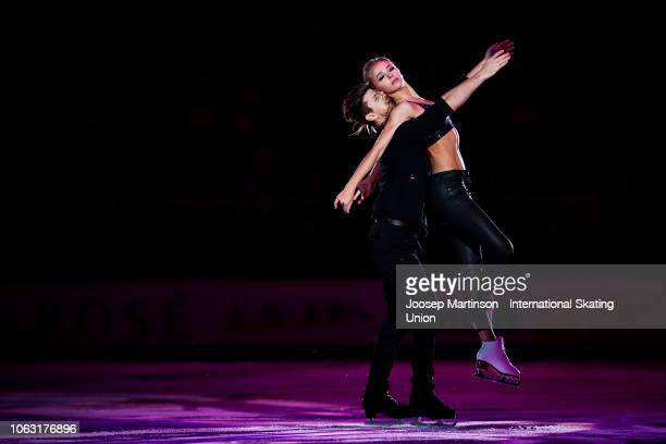 Alexandra Stepanova and Ivan Bukin of Russia perform in the Gala Exhibition during day 3 of the ISU Grand Prix of Figure Skating, Rostelecom Cup 2018...