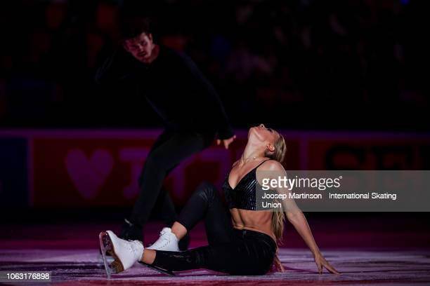 Alexandra Stepanova and Ivan Bukin of Russia perform in the Gala Exhibition during day 3 of the ISU Grand Prix of Figure Skating Rostelecom Cup 2018...
