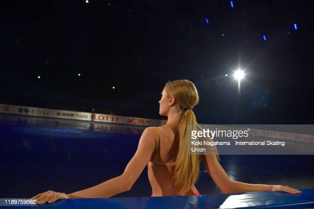 Alexandra Stepanova and Ivan Bukin of Russia perform in the Gala Exhibition during day 3 of the ISU Grand Prix of Figure Skating NHK Trophy at...