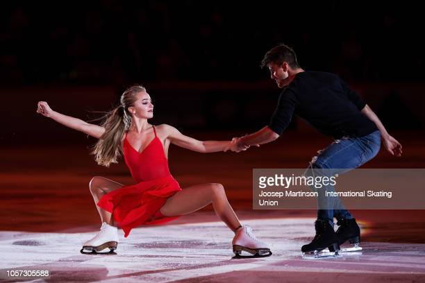 Alexandra Stepanova and Ivan Bukin of Russia perform in the Gala Exhibition during day three of the ISU Grand Prix of Figure Skating at the Helsinki...