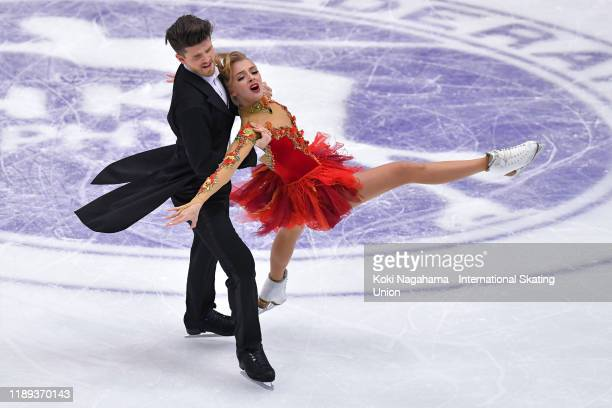 Alexandra Stepanova and Ivan Bukin of Russia perform in the Ice Dance Rhythm Dance during day one of the ISU Grand Prix of Figure Skating NHK Trophy...