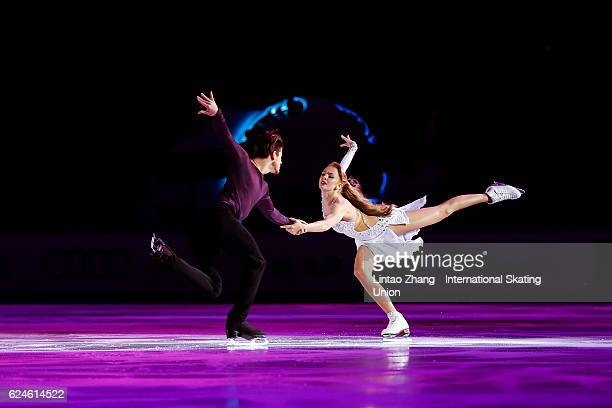 Alexandra Stepanova and Ivan Bukin of Russia performs during the Exhibition Program on day three of Audi Cup of China ISU Grand Prix of Figure...
