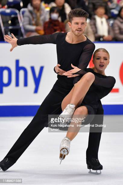 Alexandra Stepanova and Ivan Bukin of Russia performs in the Ice Dance-Free Dance during day 2 of the ISU Grand Prix of Figure Skating NHK Trophy at...