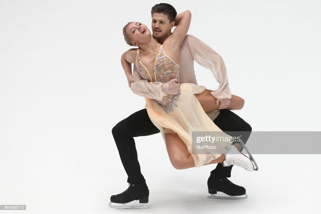 Alexandra Stepanova and Ivan Bukin perform free dance at the Russian Figure Skating Championships in St, on December 23, 2017. Petersburg, on December 23, 2017.