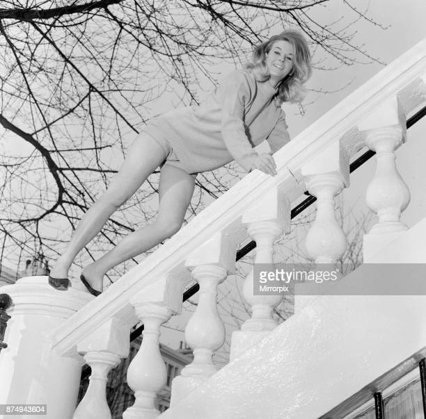 Alexandra Stevenson professional actress and amateur painter pictured at her flat Kensington London 27th November 1964