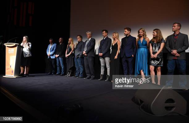 Alexandra Stewart attends the 'Sharkwater Extinction' premiere during 2018 Toronto International Film Festival at Roy Thomson Hall on September 7...