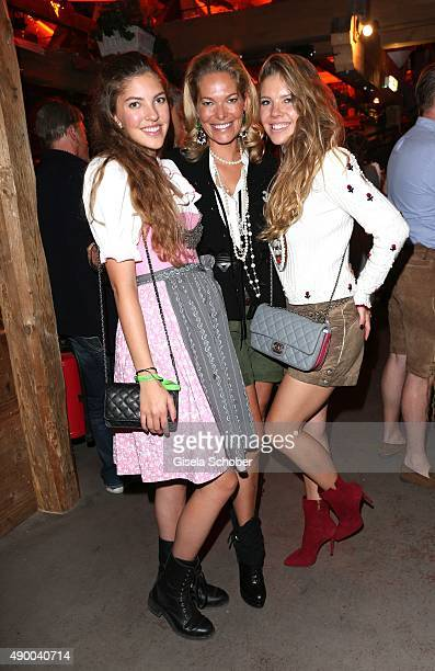 Alexandra Swarovski and her daughters Victoria and Paulina during the Oktoberfest 2015 at Kaeferschaenke at Theresienwiese on September 25, 2015 in...