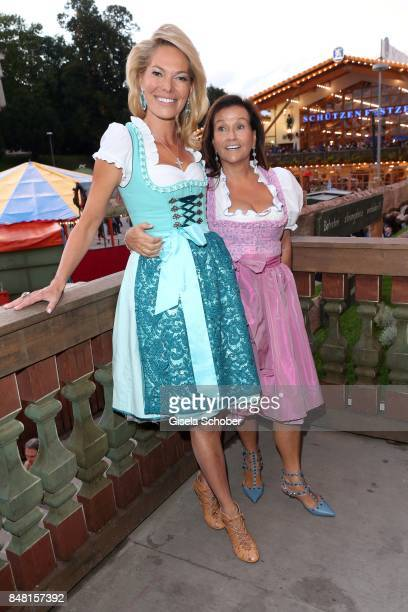 Alexandra Swarovski and Karin Holler during the opening of the Oktoberfest 2017 at Kaeferschaenke at Theresienwiese on September 16 2017 in Munich...