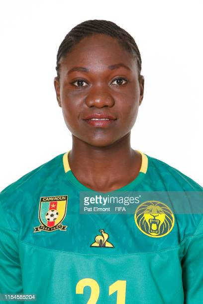 Alexandra Takounda of Cameroon poses for a portrait during the official FIFA Women's World Cup 2019 portrait session at Crowne Plaza Montpellier...