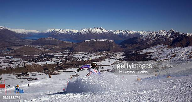 Alexandra Tilley Great Britain in action during the Women's Giant Slalom competition at Coronet Peak New Zealand during the Winter Games Queenstown...