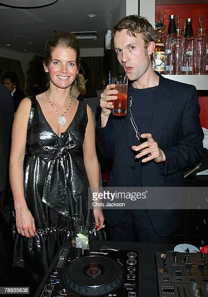 Alexandra Tolstoy and DJ Gabriel Prokofiev during the Russia's Old New Year Party held at the Fifth Floor Bar Harvey Nichols on January 14 2008 in...