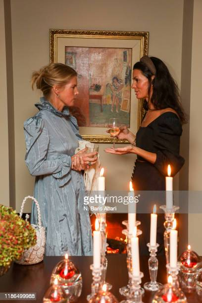 Alexandra Tolstoy and Hedvig Sagfjord Opshaug poses during in Mehry Mu party at Yenikoy on November 02 2019 in Istanbul Turkey