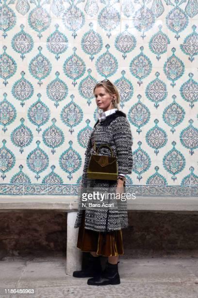 Alexandra Tolstoy attends Hagia Sophia tour on November 01 2019 in Istanbul Turkey
