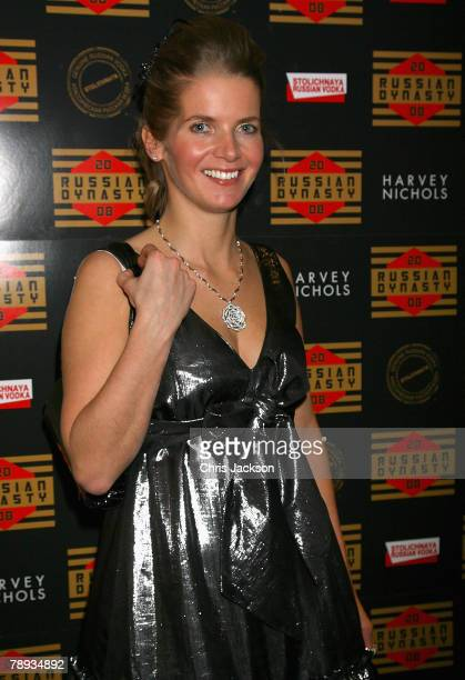 Alexandra Tolstoy attends Russia's Old New Year Party held at the Fifth Floor Bar Harvey Nichols on January 14 2008 in London England